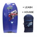 Bodyboard Manta Viper EPS 38 (Bleu) + Leash + Housse
