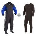 Combinaison étanche sèche Typhoon Hypercurve 4 + sous-vêtement (Blue)