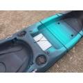 Kayak RTM Abaco 420 Standard Big Bang (+ Pagaie + Siège Hi-confort) (Couleur Steel : Turquoise et Noir)