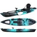 Kayak RTM Abaco 360 Premium (+ Pagaie fibre + Fauteuil) (Couleur Steel : Turquoise et Noir)
