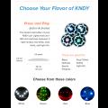 Led à coller LEDKNDY à bouton (vendus par 4) Rouge