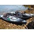 Kayak RTM Rytmo Pêche Premium + 1 fauteuil + 1 pagaie fibre (Couleur Steel : Turquoise et Noir)