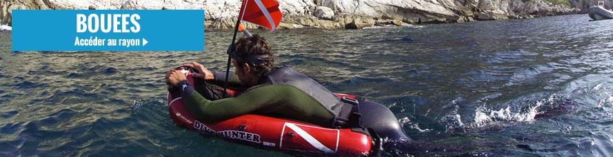 Bouée gonflable de chasse sous marine