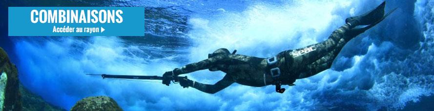 Achat de combinaison de chasse sous-marine et de plongée