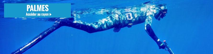 Vente de palmes de plongée et de chasse sous-marine