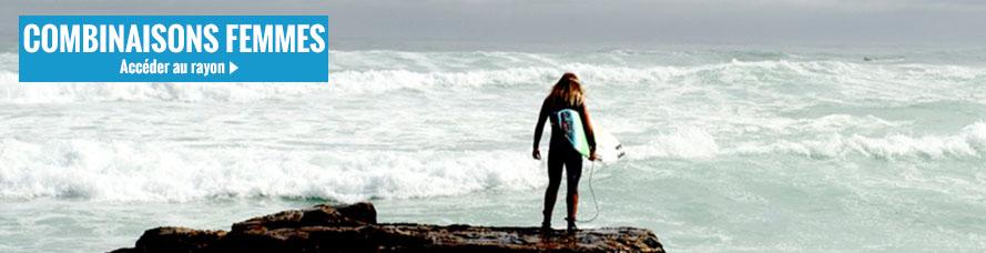 Combinaisons de surf femme en néoprene