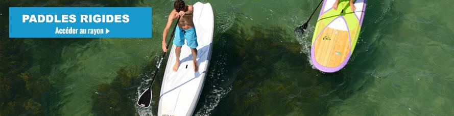 SUP Paddle rigide Exocet et SUP NAISH, Bic