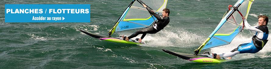 Planche et flotteur de windsurf planche a voile pas cher en promo
