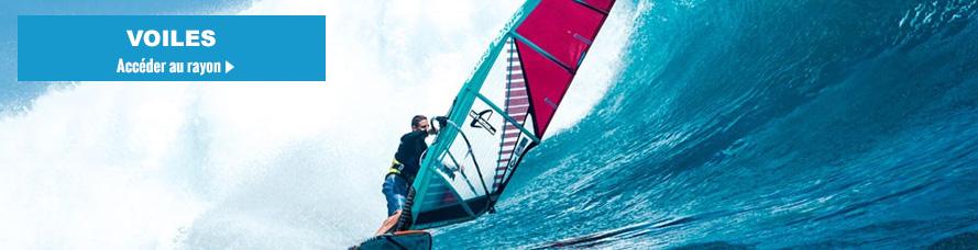 Voile de windsurf et de planche a voile